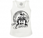 Ironkuza Woman Tank Top 'Fit Curves' weiss