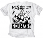 Ironkuza T-Shirt 'Made in Germany' weiss
