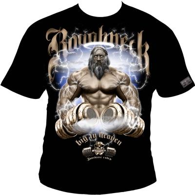 Roughneck T-Shirt 'Big in Heaven' schwarz (Silberrücken)