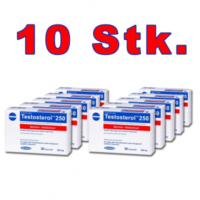 10 x Testosterol 250 - 30 Kapseln (Megabol)