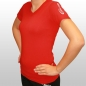 Preview: Damenshirt V-Schnitt rot (Best Body Nutrition)