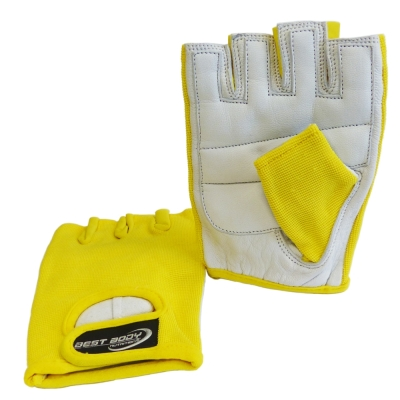 Fitness Gloves 'Power' yellow  - 1 pair