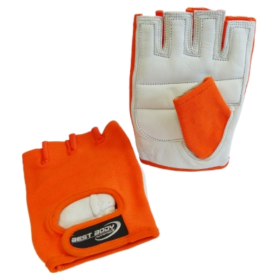 Fitness Gloves 'Power' orange - 1 pair