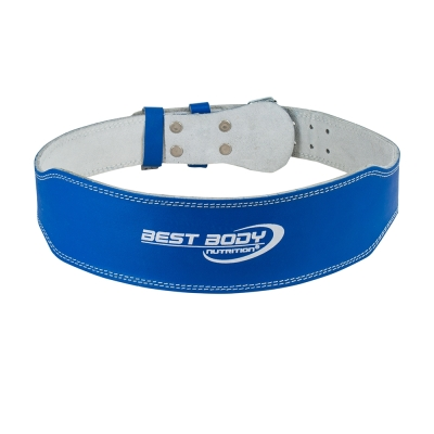 Weightlifting Belt leather blue (Best Body)