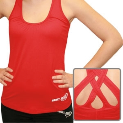 Woman Premium TankTop red (Best Body Nutrition)