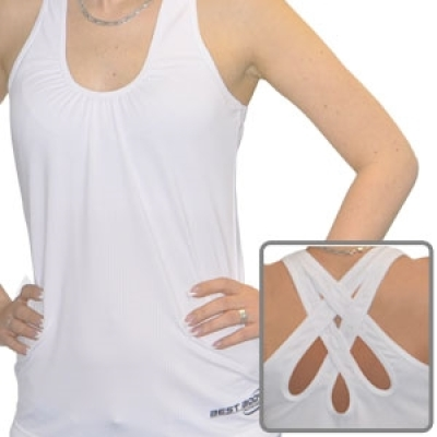 Woman Premium TankTop white (Best Body Nutrition)