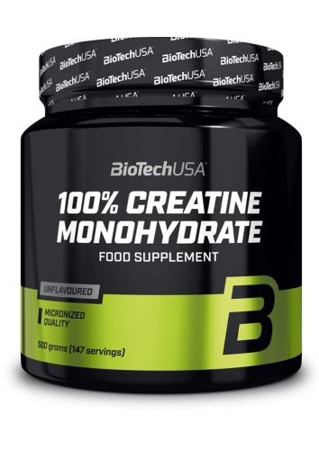 100% Creatine Monohydrate - 500g powder (Biotech USA)
