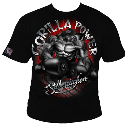 Gorilla Power 10 T-Shirt black