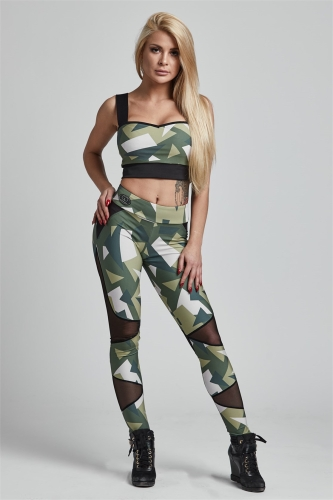 Gym Provocateur Leggings Brave Military Green