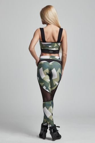 Leggins BRAVE Military Green (Gym Provocateur)