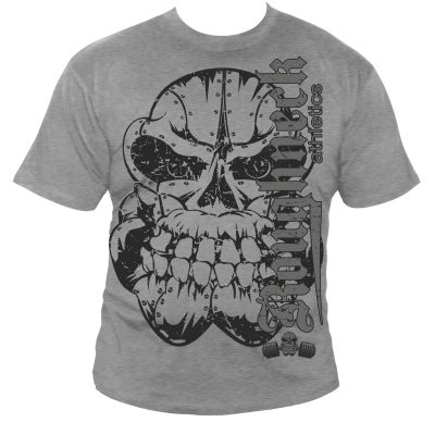 Roughneck T-Shirt 'Ultimate Bench' grau (Silberrücken)