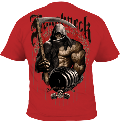 Roughneck T-Shirt 'Pumping Reaper' red