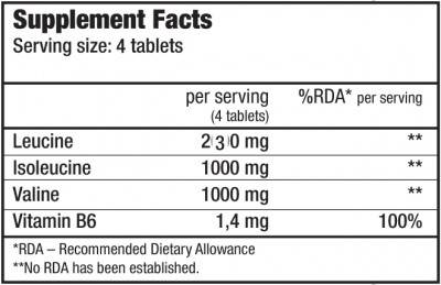 BCAA + B6 - 200 Tabletten (Biotech USA)