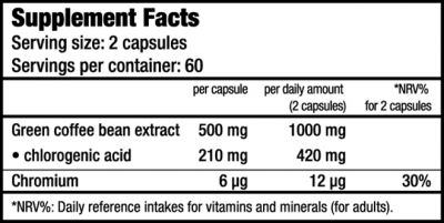 Green Coffee - 120 capsules (Biotech USA)