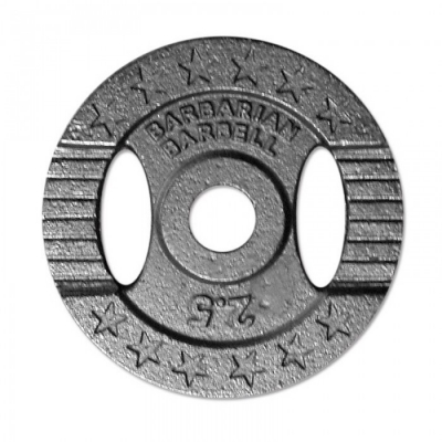 Barbarian Barbell Cast iron weight plate 30mm - 2,5kg