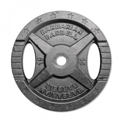 Barbarian Barbell Cast iron weight plate 30mm - 15kg
