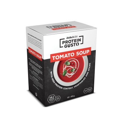 Protein Gusto Tomato Soup - 10x30g bags (Biotech USA)