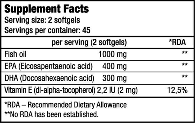 Omega 3 capsules Biotech USA