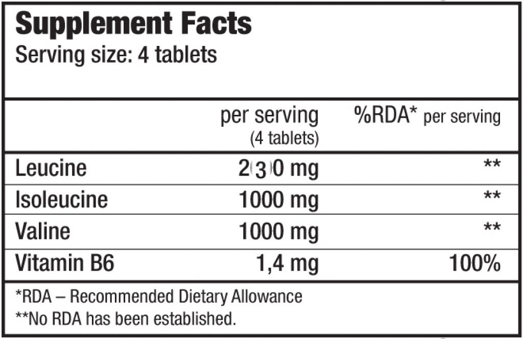 BCAA + B6 - 100 Tabletten (Biotech USA)