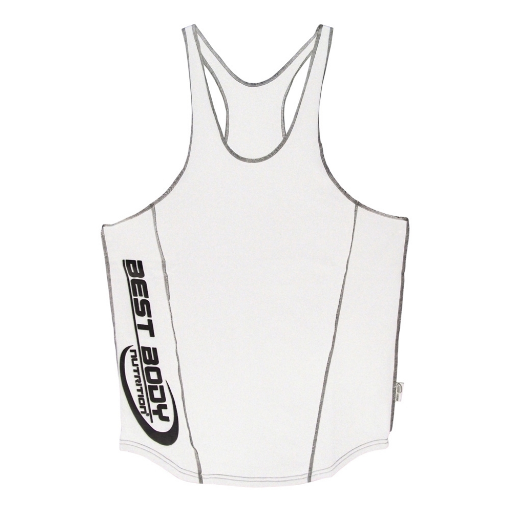 Muscle Shirt Tank Top white (Best Body Nutrition)