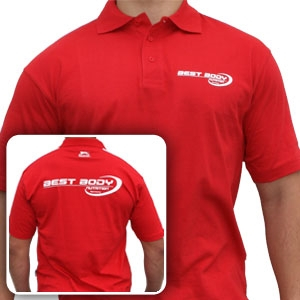 Polo Shirt red (Best Body Nutrition)