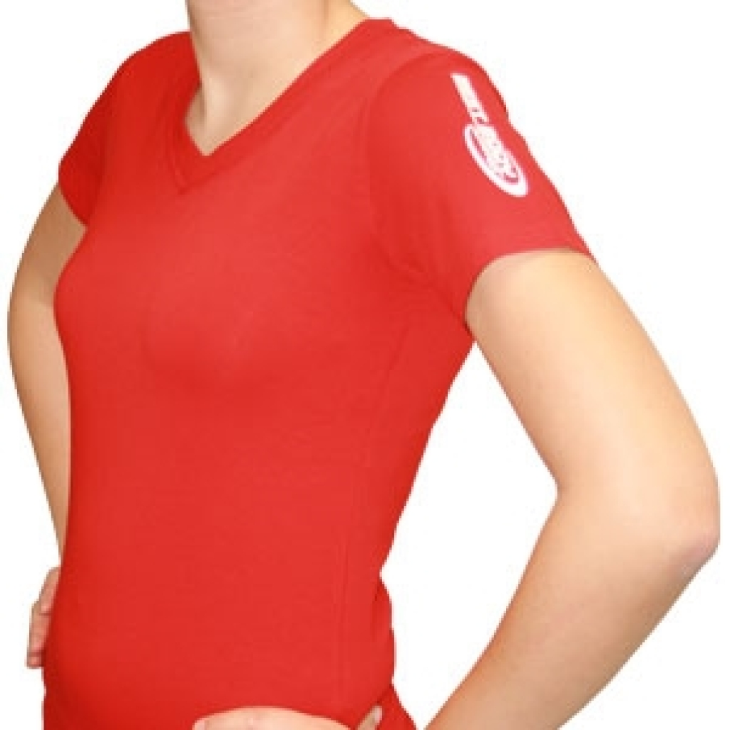 Damenshirt V-Schnitt rot (Best Body Nutrition)