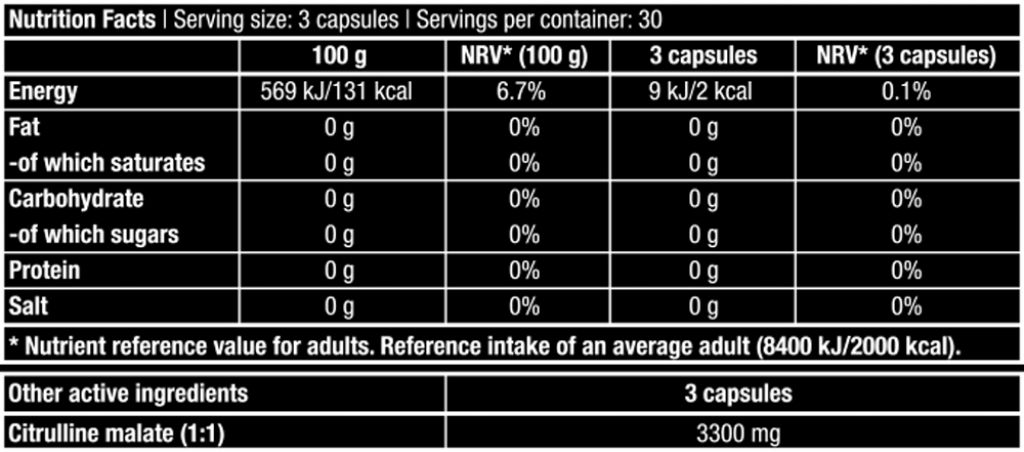 Citrulline Malate - 90 Mega Caps (Biotech USA)