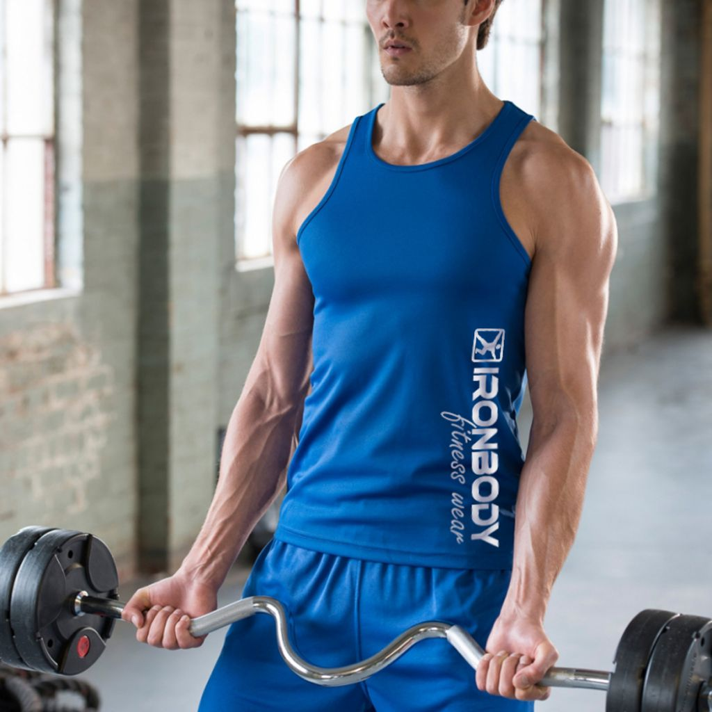 Tank Top Cool Muscle blue (Ironbody)
