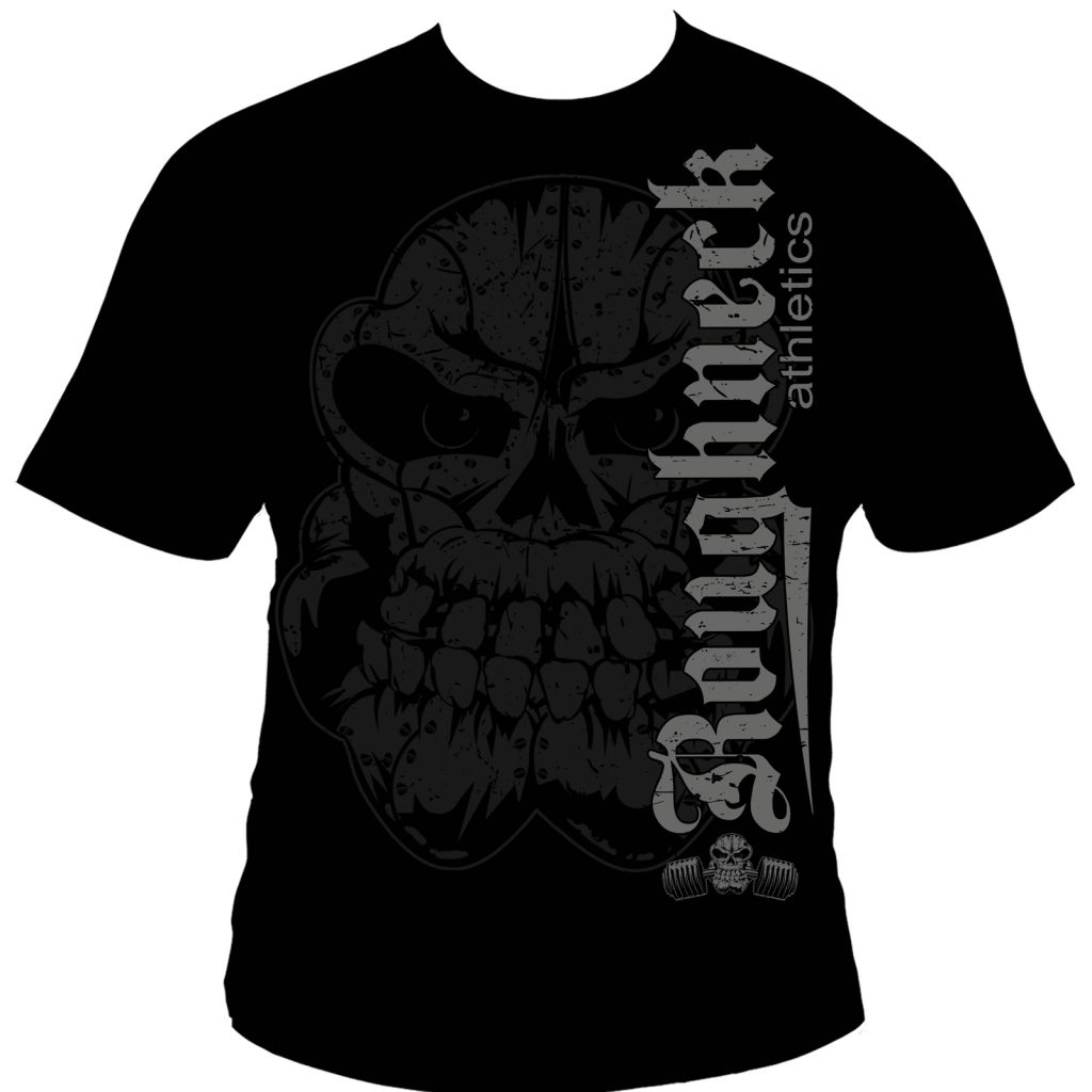 Roughneck T-Shirt 'Ultimate Fighter' schwarz (Silberrücken)