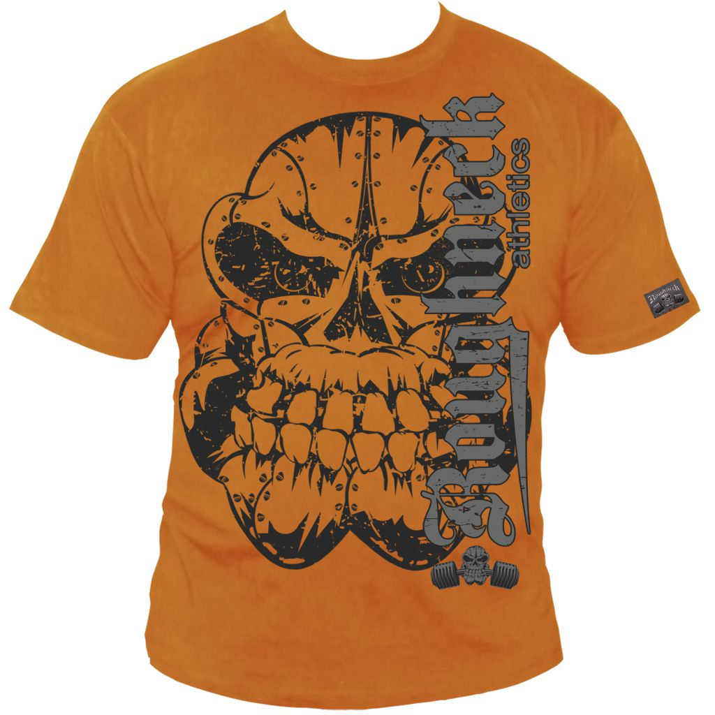 Roughneck T-Shirt 'Ultimate Bench' orange (Silberrücken)