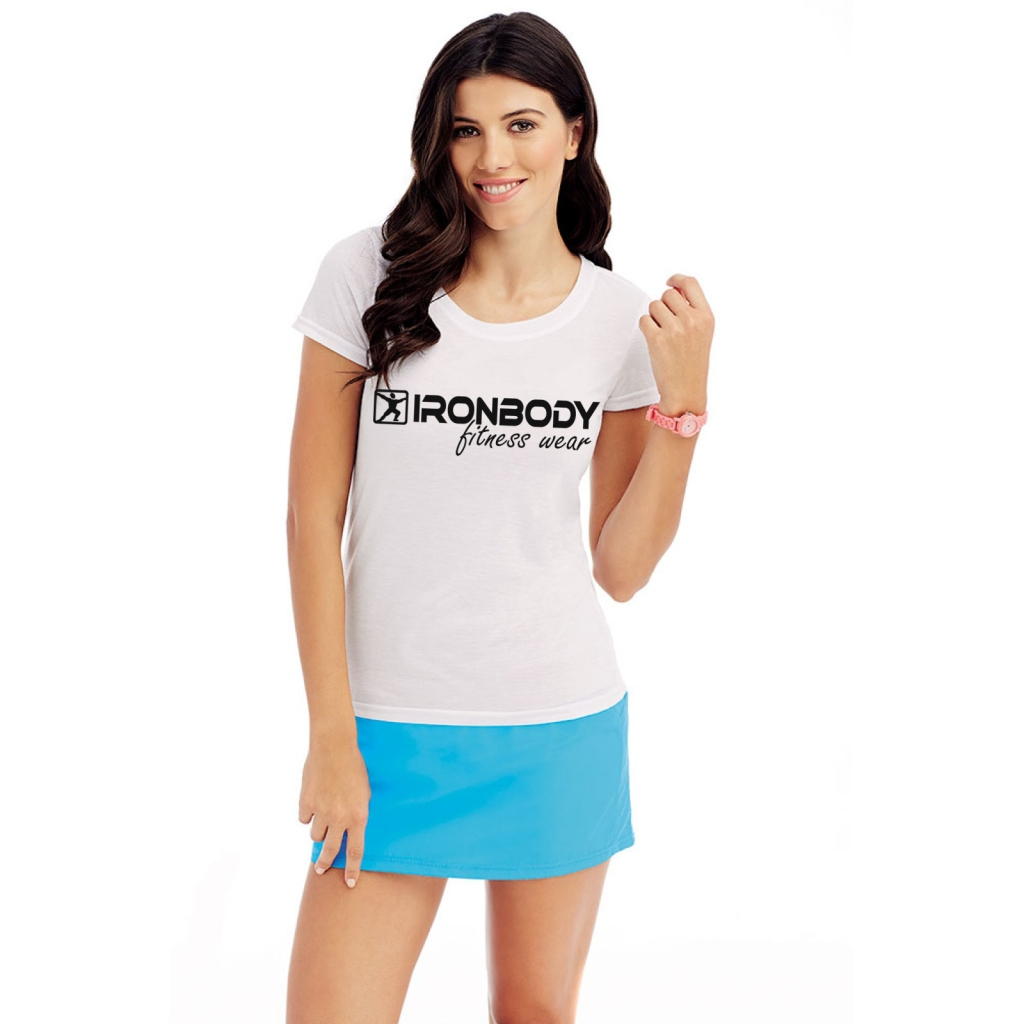 unction-Fitness-T-Shirt-white-black woman