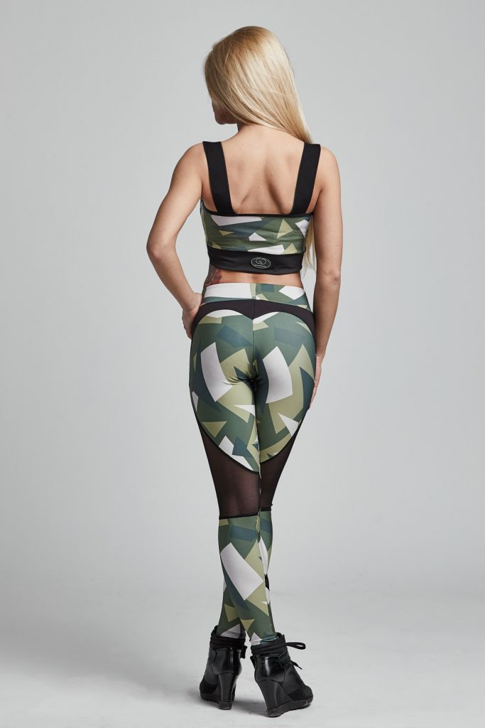 Top BRAVE Military Green (Gym Provocateur)