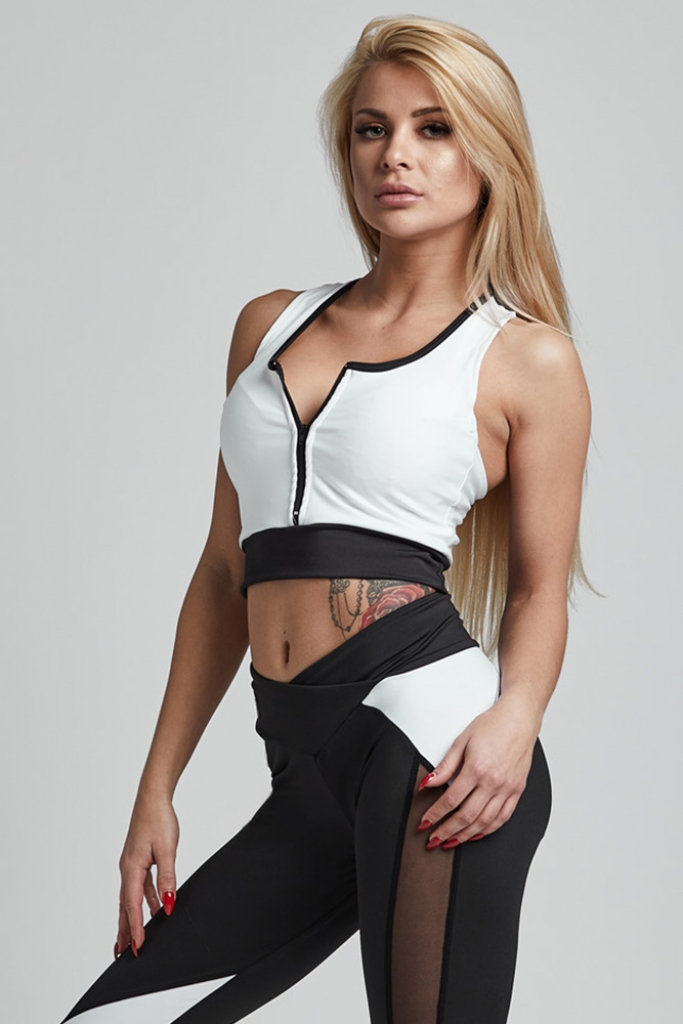 Gym Provocateur Top SEXY Black & White