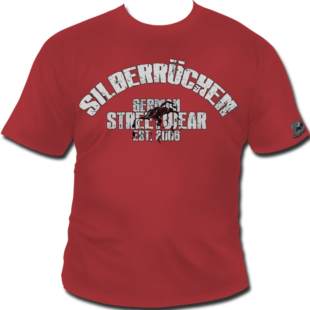 Roughneck T-Shirt 'Zombie' red