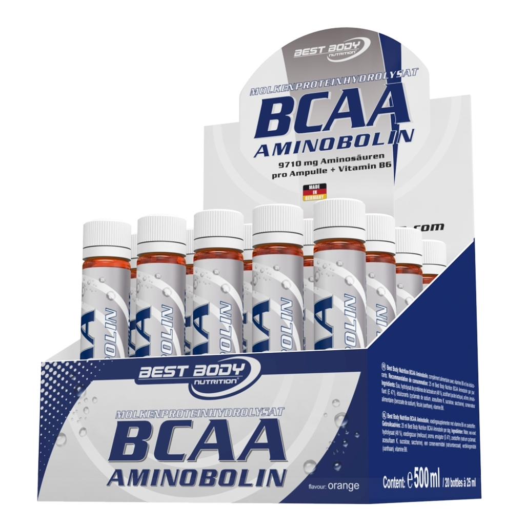 BCAA Aminobolin - 20 ampouls of 25ml (Best Body Nutrition)