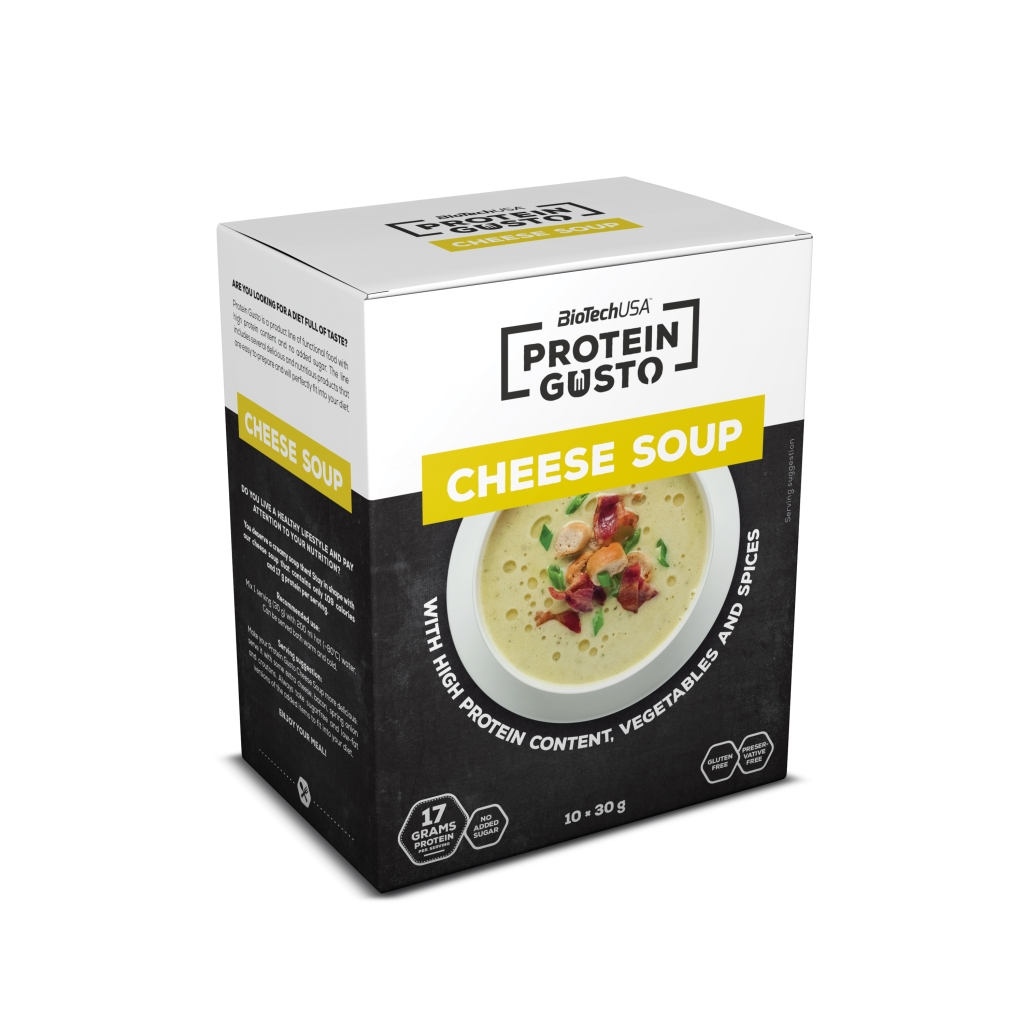 Protein Gusto Cheese Soup - 10x30g Beutel (Biotech USA)