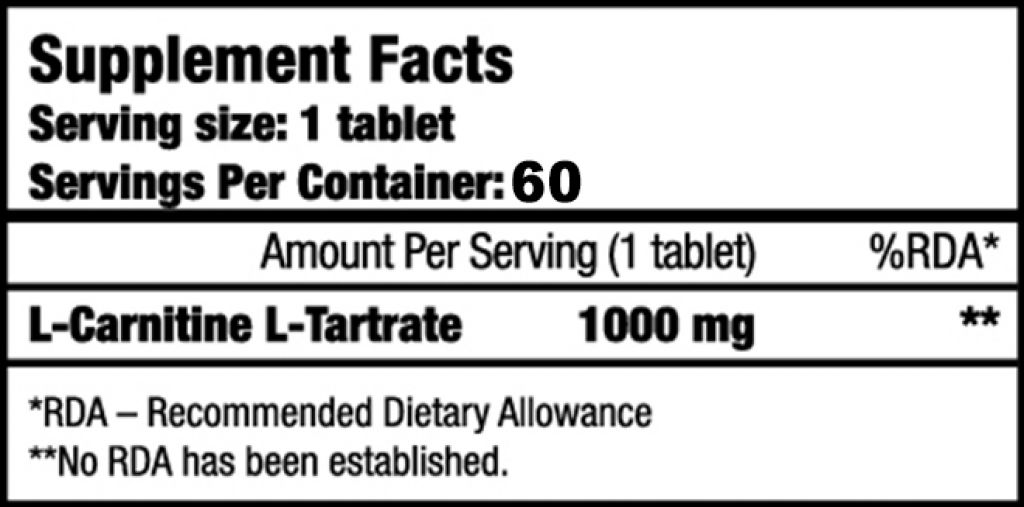 L-Carnitine 1000 - 60 Tabletten (Biotech USA)