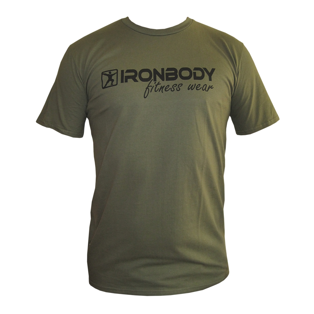 Fitness & Bodybuilding T-Shirt military green (Ironbody)