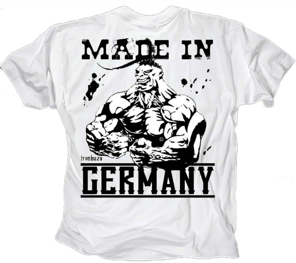 ironkuza t shirt made in germany weiss. Black Bedroom Furniture Sets. Home Design Ideas